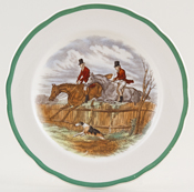 Spode The Hunt colour Plate c1952