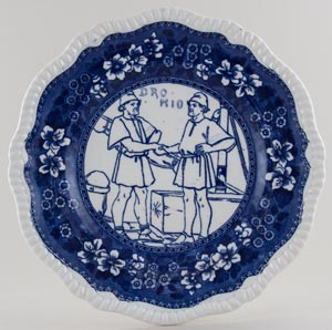 Spode Shakespeare Series Plate Comedy of Errors c1903