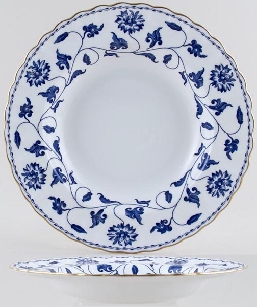 Spode Blue Colonel Dessert or Small Soup Plate c1991