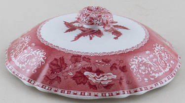 Spode Camilla pink Vegetable Dish Lid c1960s