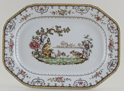 Spode Chelsea colour Meat Dish or Platter c1953