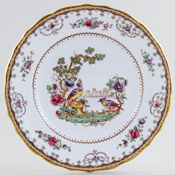 Spode Chelsea colour Plate coupe c1952