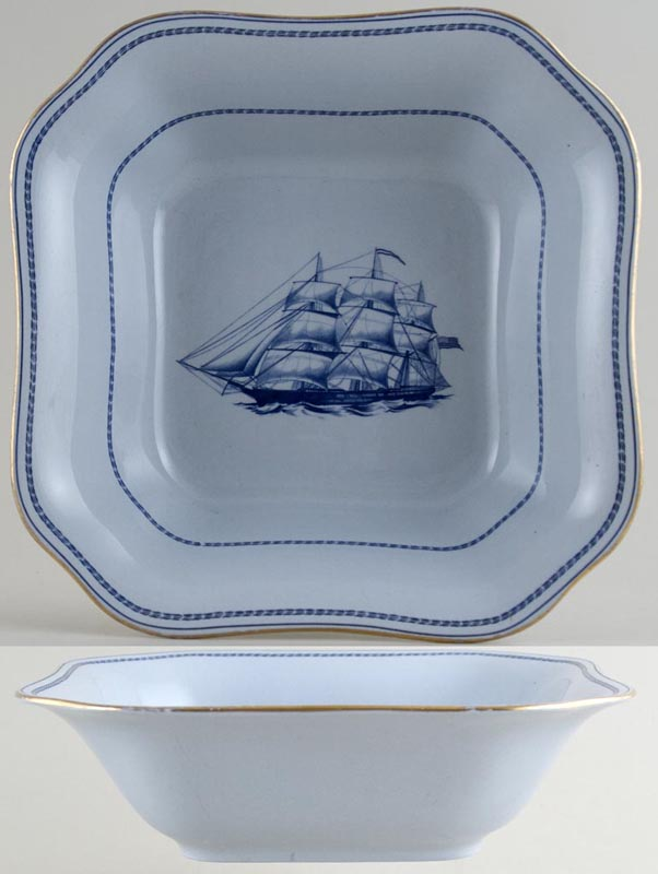 Spode Trade Winds Blue Bowl Ship Pepperell c1970s