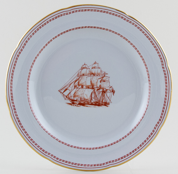 Spode Trade Winds Red Plate George of Salem c1970s