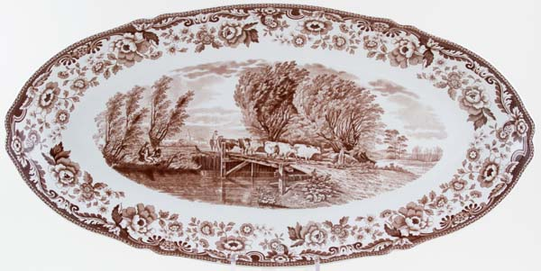 Spode Westbourne brown Fish Platter c2004