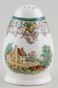 Spode Byron brown with colour Pepper Pot c1950s