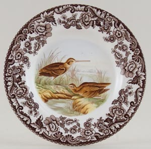 Spode Woodland brown with colour Plate Snipe c2005
