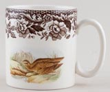 Spode Woodland brown with colour Mug Snipe and Quail c2007