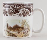 Spode Woodland brown with colour Mug Walleye c2008