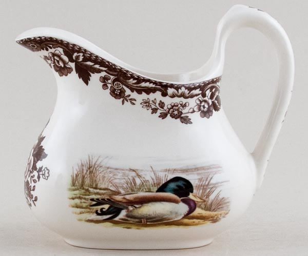 Spode Woodland brown with colour Jug or Creamer c2005