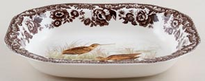 Spode Woodland brown with colour Dish Snipe c2007