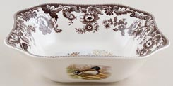 Spode Woodland brown with colour Bowl Deer c2005