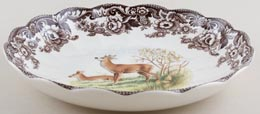 Spode Woodland brown with colour Dish Deer c2005