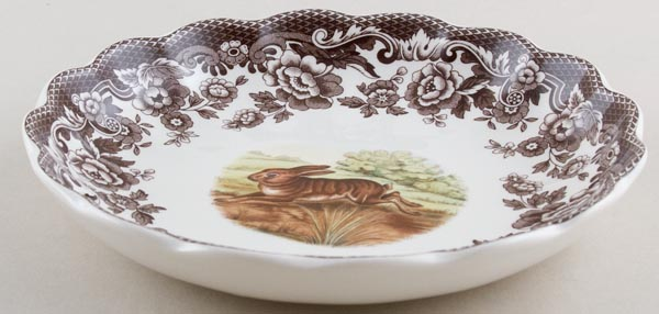 Spode Woodland brown with colour Dish Rabbit c2005
