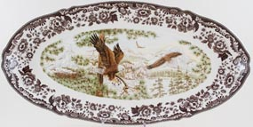 Spode Woodland brown with colour Fish Platter American Eagle c2006