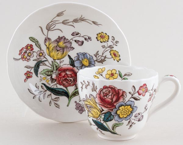 Spode Gainsborough colour Teacup and Saucer c1950