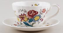 Spode Gainsborough colour Breakfast Cup and Saucer c1996