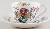 Spode Gainsborough colour Teacup and Saucer c1950s