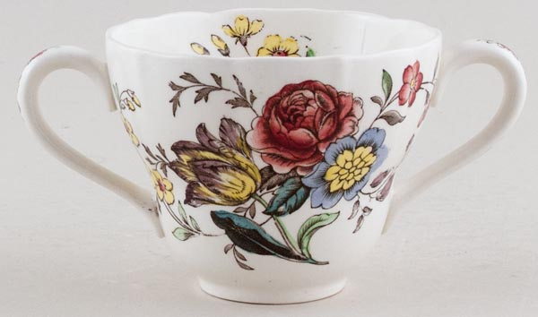 Spode Gainsborough colour Cup Two Handled c1950