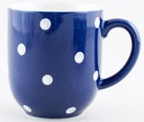 Spode Baking Days blue dark Mug c2007
