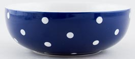 Spode Baking Days blue dark Cereal, Dessert or Soup Bowl c2007