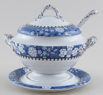 Spode Chinese Figures Sauce Tureen c1920