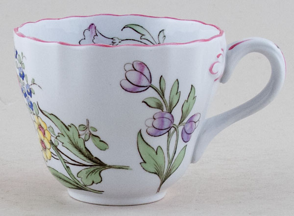 Spode Marlborough sprays colour Teacup c1950s
