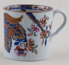 Spode Cabbage blue with colour Cup c1820