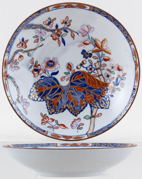 Spode Cabbage blue with colour Saucer for Breakfast Cup c1840