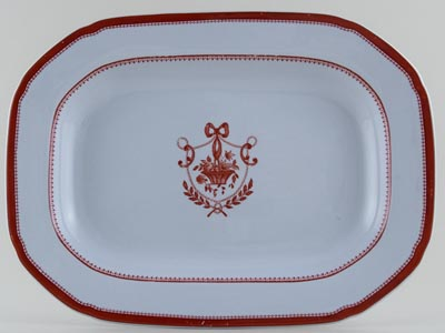 Spode Newburyport Red Meat Dish or Platter c1960