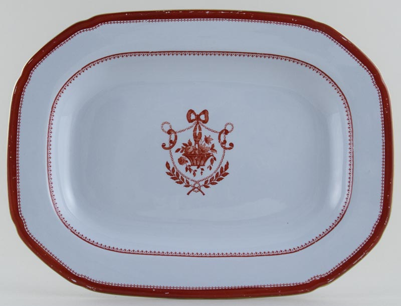 Spode Newburyport Red Meat Dish or Platter c1962
