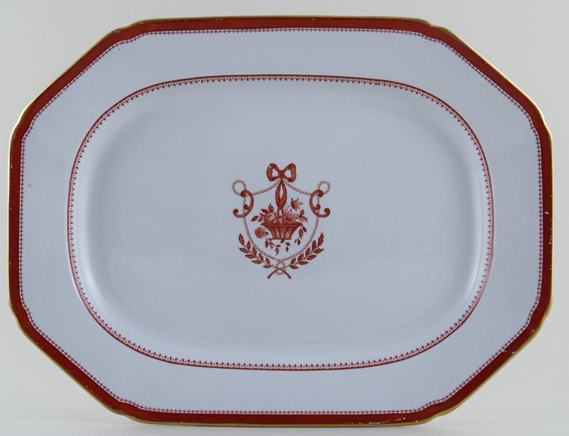 Spode Newburyport Red Meat Dish or Platter c1961