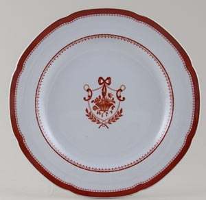 Spode Newburyport Red Plate c1960