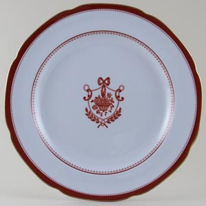 Spode Newburyport Red Plate c1960s
