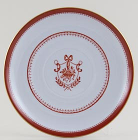 Spode Newburyport Red Saucer for Soup Cup c1960s