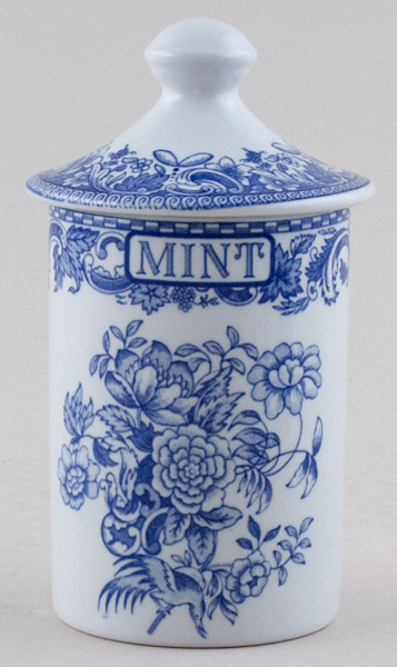 Spode Blue Room Spice Jar Mint Beverley c2000