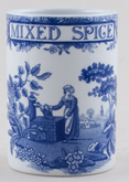 Spode Blue Room Spice Jar Mixed Spice Girl at Well c2000