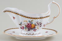 Spode Rockingham colour Sauce Boat with Fixed Stand c1985