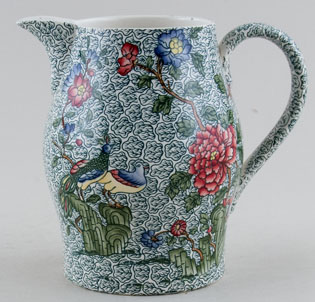 Spode Peacock and Parsley colour Jug or Pitcher c1930