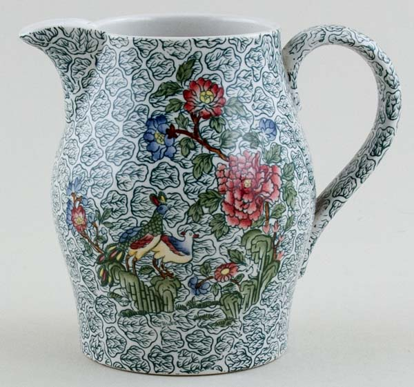 Spode Peacock and Parsley colour Jug or Pitcher c1890