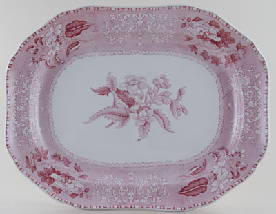 Spode Camilla pink Meat Dish or Platter c1930s