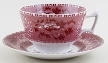Spode Camilla pink Breakfast Cup and Saucer c2008