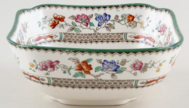 Spode Chinese Rose colour Bowl square c1950