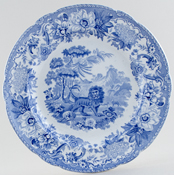 Plate Fox and Lion c1840