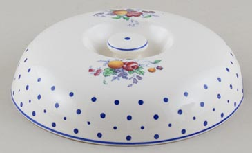 Spode Polka Dot colour Warming Dish Lid c1950