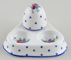 Spode Polka Dot colour Cruet c1950