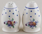 Spode Polka Dot colour Salt and Pepper Pots c1950s