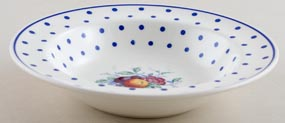Spode Polka Dot colour Fruit Saucer with rim c1955