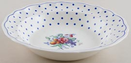 Spode Polka Dot colour Dessert or Small Soup Bowl c1960