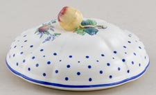 Spode Polka Dot colour Sauce Tureen Lid c1950